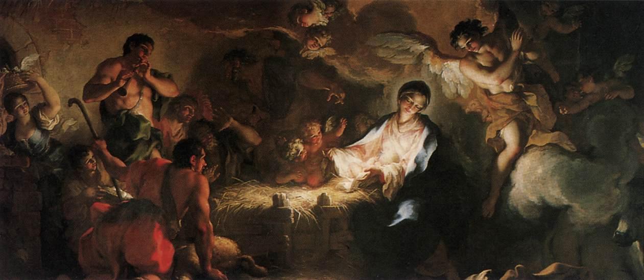 художник Антонио БАЛЕСТРА (1666-1740) / «Поклонение пастухов»