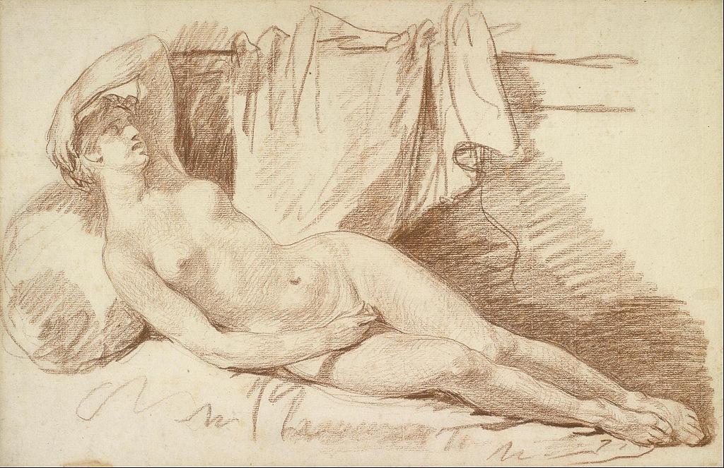 художник Жан-Батист ГРЁЗ (1725-1805)/ «Эгина в ожидании Юпитера»