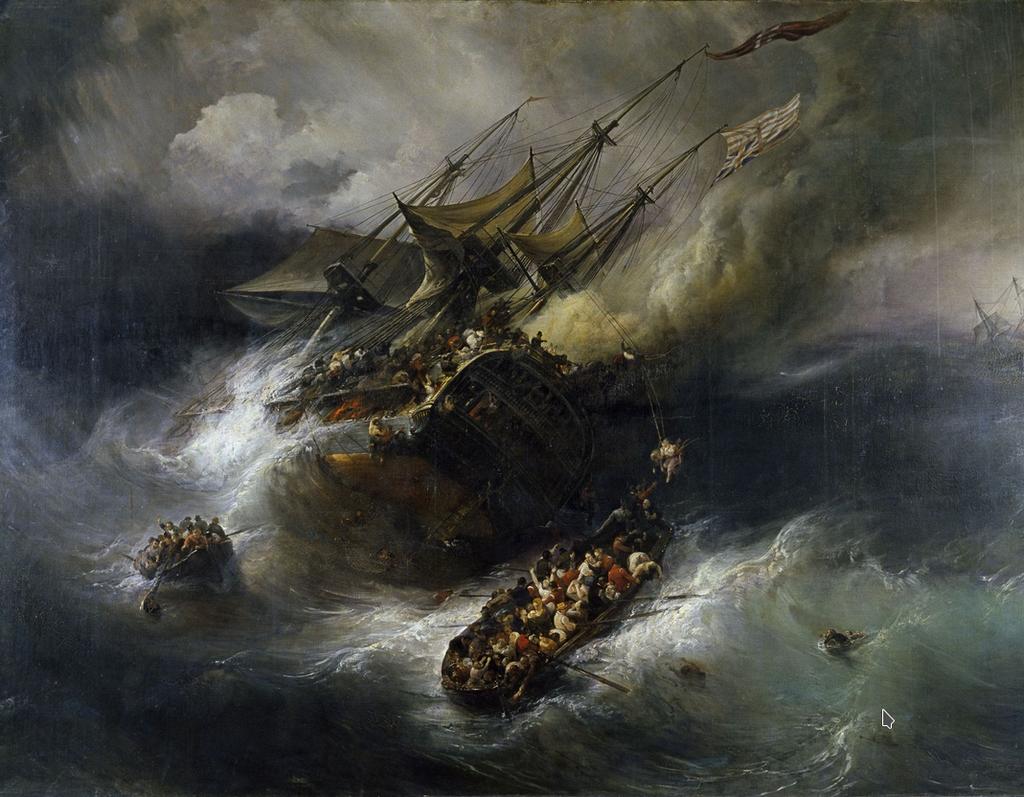 художник Теодор ГЮДЕН (1802-1880) / «Потеря «Кента»