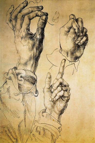 Левая рука Альбрехта Дюрера
