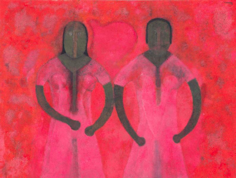 Две женщины в красном