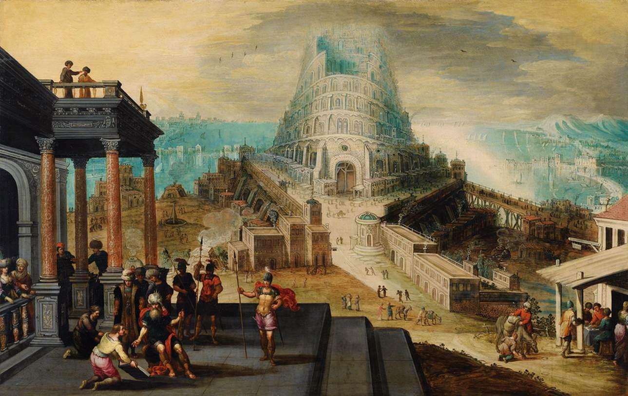 Йос ван Клеве / «Вавилонская башня» / XVIв.