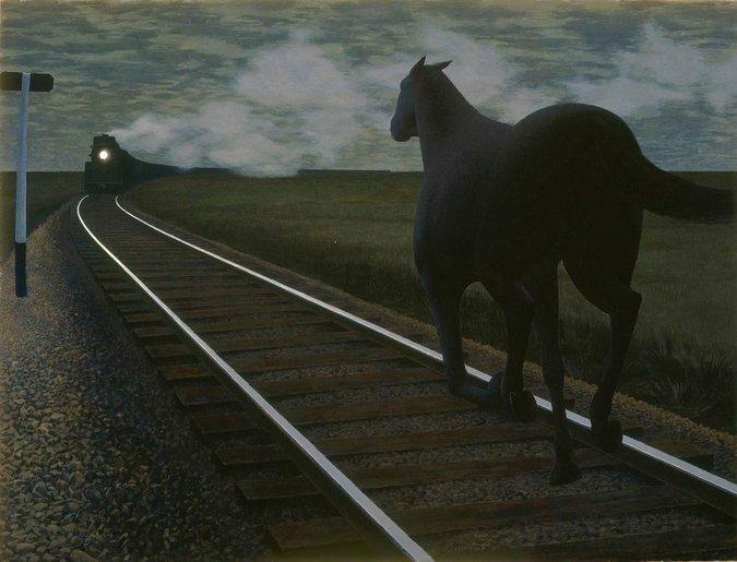 Лошадь и поезд