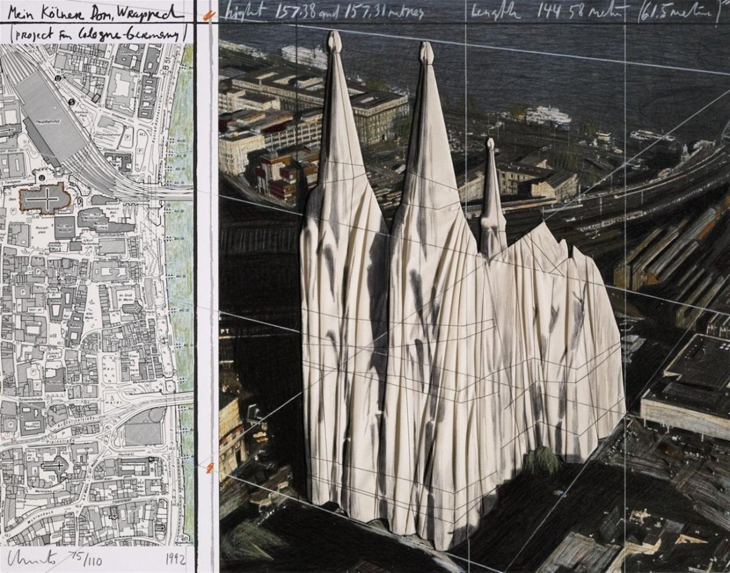 Христо & Жан Клод / «Мой завернутый Кельнский собор» / 1985