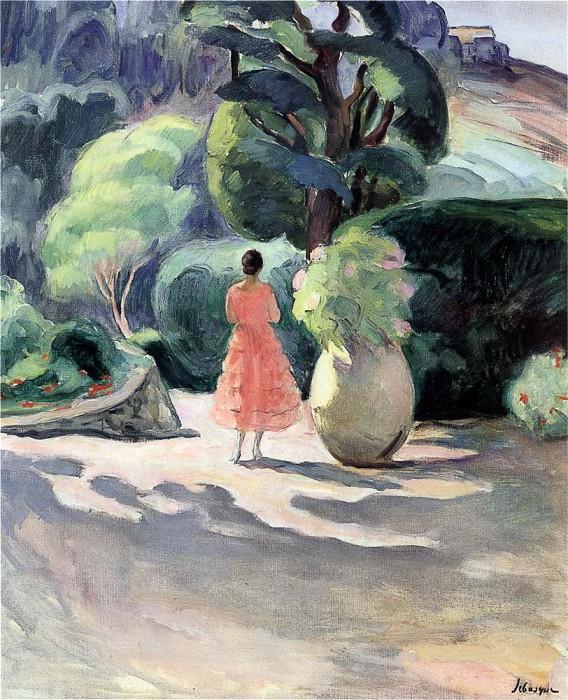 художник Анри ЛЕБАСК (1865-1937) / «Аллея кувшинов в Праде»
