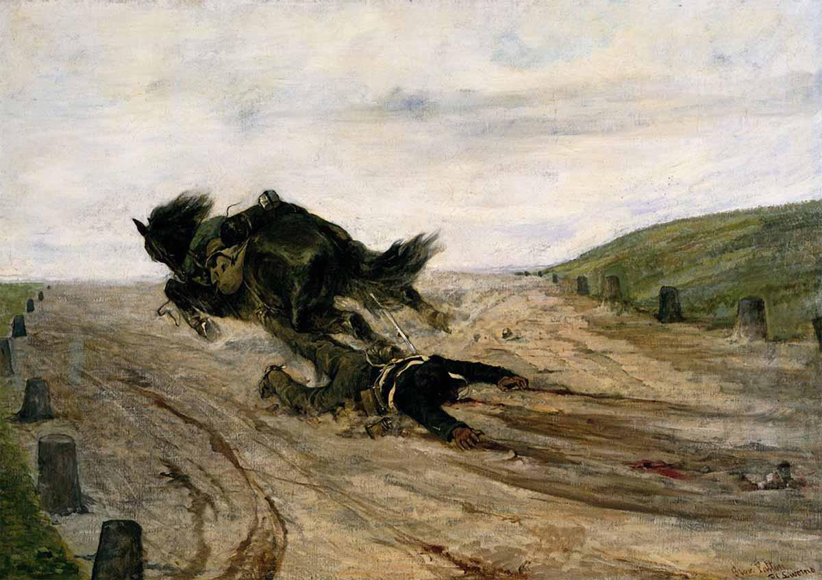 художник Джованни ФАТТОРИ (1825-1908) / «Нога в стремени»