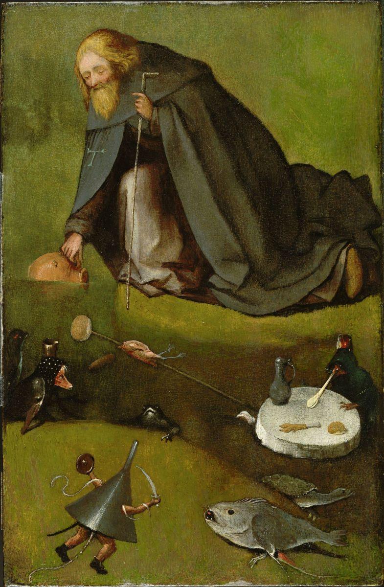 Иероним Босх / «Искушение Святого Антония» / 1500-е