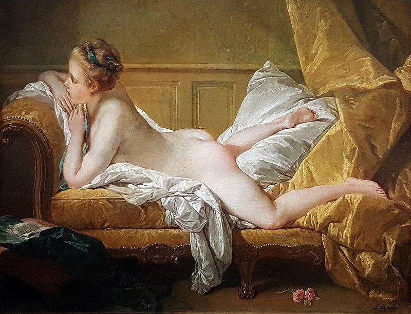 художник Франсуа БУШЕ (1703-1770) / «Отдыхающая дева»