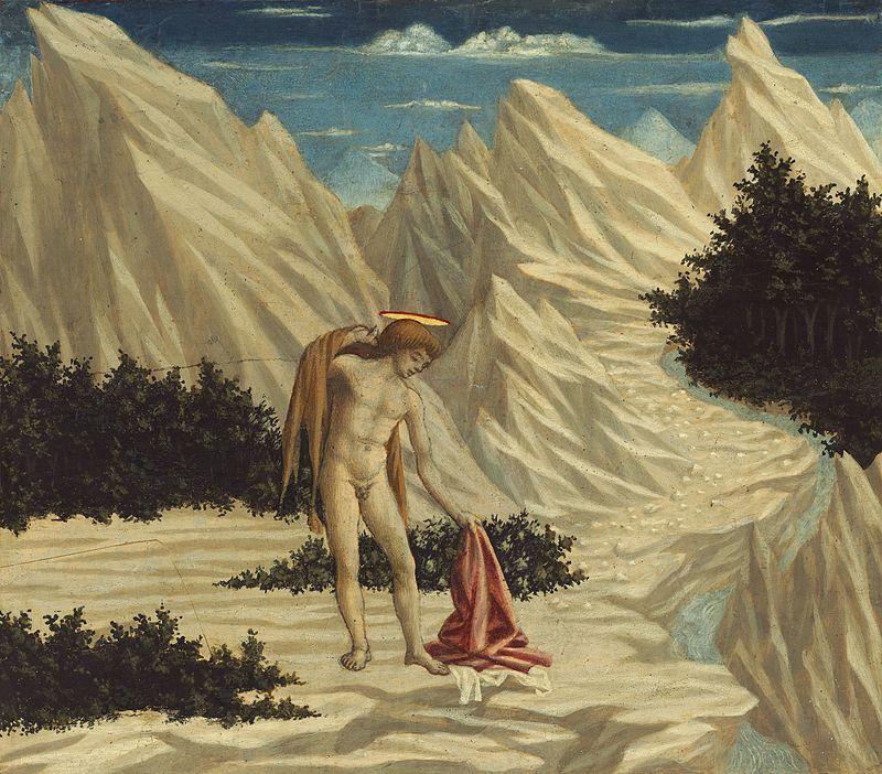 Доменико Венециано / «Иоанн Креститель в пустыне» / 1445