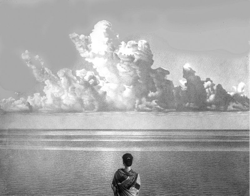 художник Вилен КАРАКАШЕВ (1935) / «Море облако»