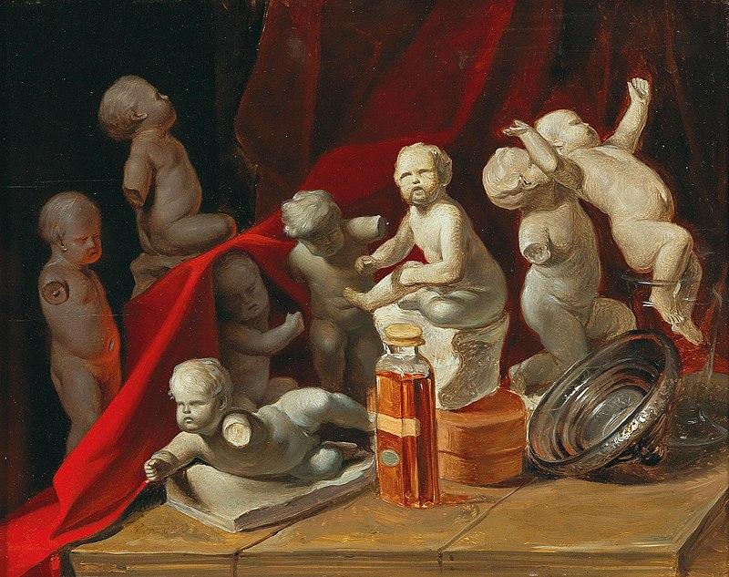 художник Петер ФЕНДИ (1796-1842) / «Натюрморт с Путти»