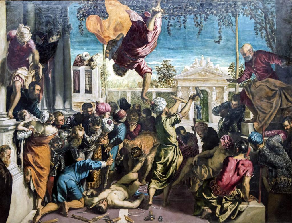 художник Якопо ТИНТОРЕТТО (1518-1594) / «Чудо святого Марка»