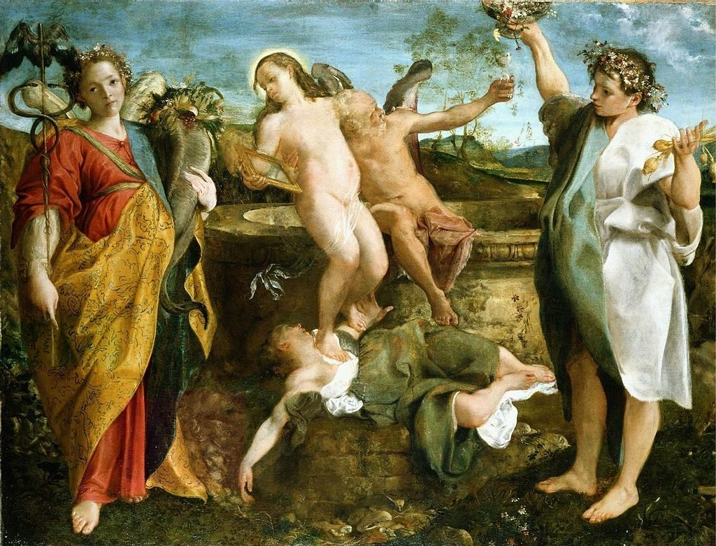 Аннибале Карраччи / «Аллегория. Правда и Время» / 1584