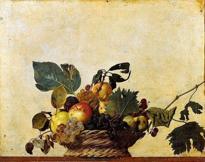 художник Микеланджело КАРАВАДЖО (1571-1610) / «Корзина с фруктами»