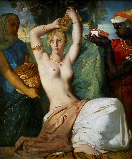 художник Теодор ШАССЕРИО (1819-1859) / «Туалет Эсфири»