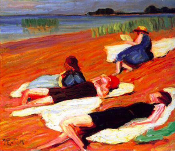 художник Юлиус ЭКСТЕР (1863-1939) / «На озере»