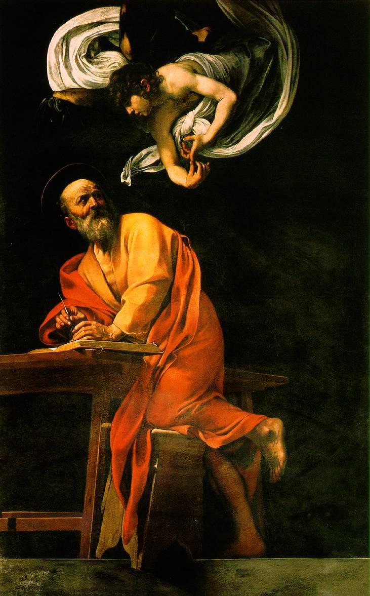 Караваджо / «Святой Матфей и ангел» / 1602
