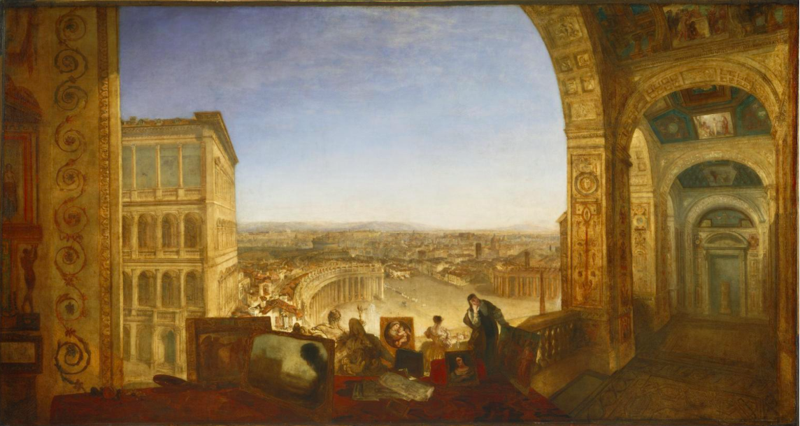 Turner. View from the Vatican loggia
