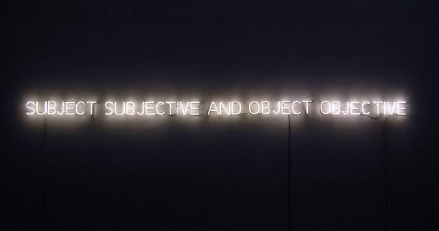 Джозеф Кошут / «Субъект субъективен, объект объективен» / 1966