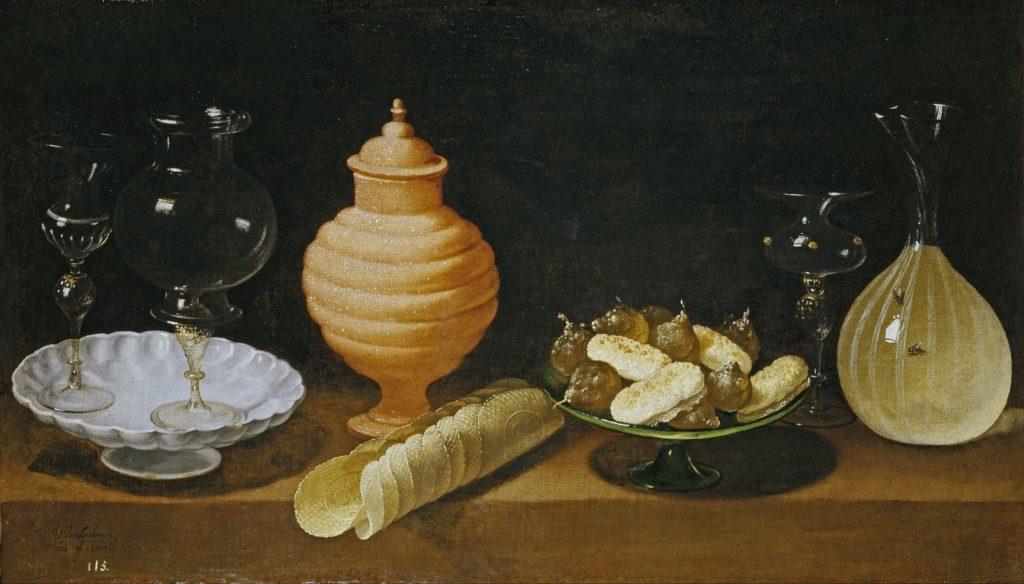 Хуан Ван дер Амен / «Натюрморт со сладостями и стеклянными сосудами» / 1622