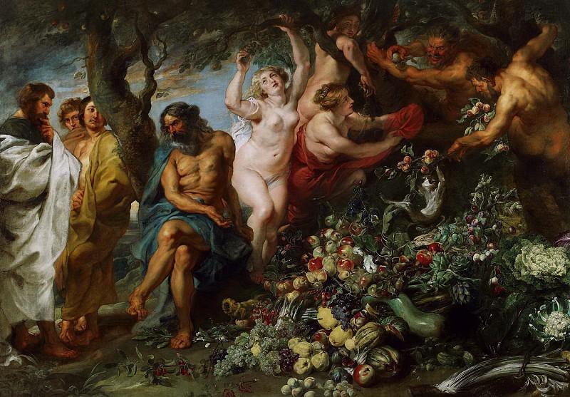 Питер Пауль Рубенс / «Пифагор, проповедующий вегетарианство» / 1620