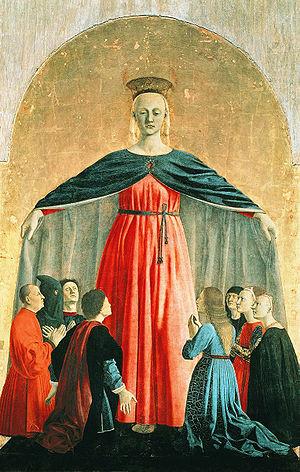 Пьеро делла Франческа / центральная часть полиптиха -«Мадонна Милосердия» / 1445
