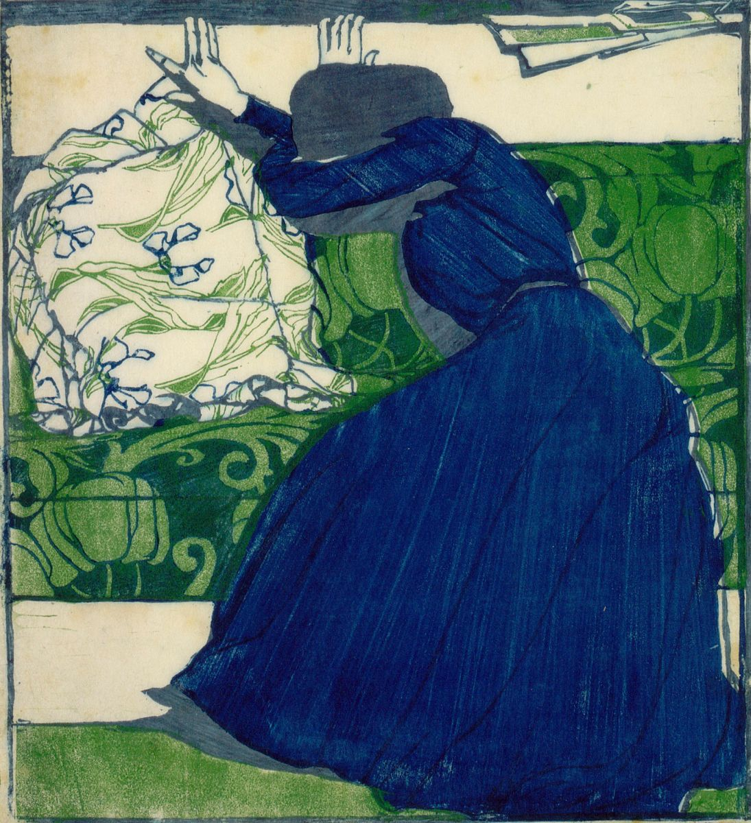 художник Макс КУРЦВАЙЛЬ (1867-1916) / «Подушка»