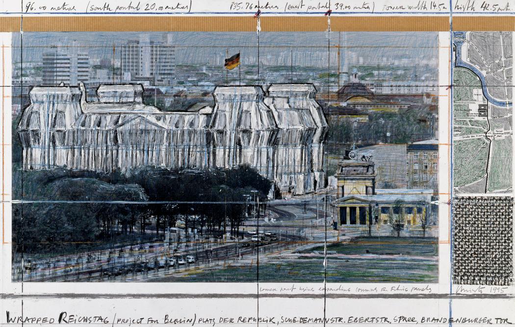 Христо & Гийебон / «Обернутый рейхстаг. Берлин» / 1971-95