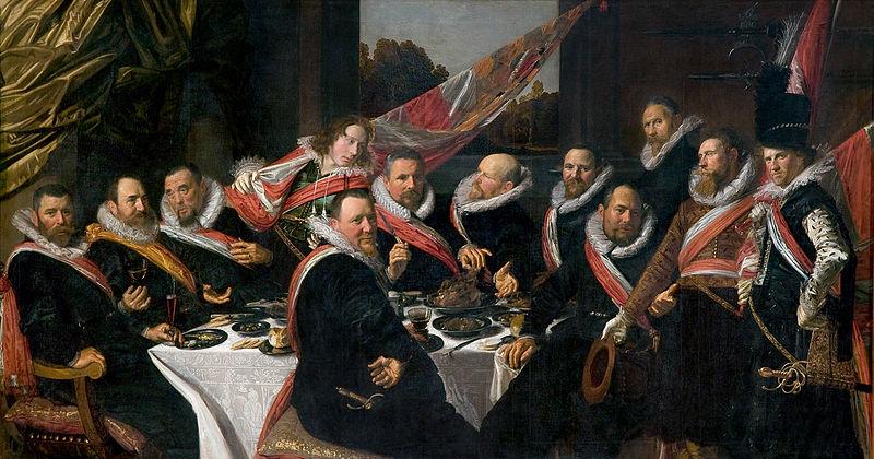 Франс Хальс / «Банкет офицеров гражданской гвардии Святого Георгия» / 1616