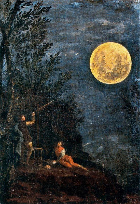 Донато Крети / «Астрономические наблюдения: Луна» / 1711