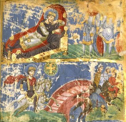 Anonymous / «Сон Константина I и битва у Мульвийского моста» / между 879 и 882