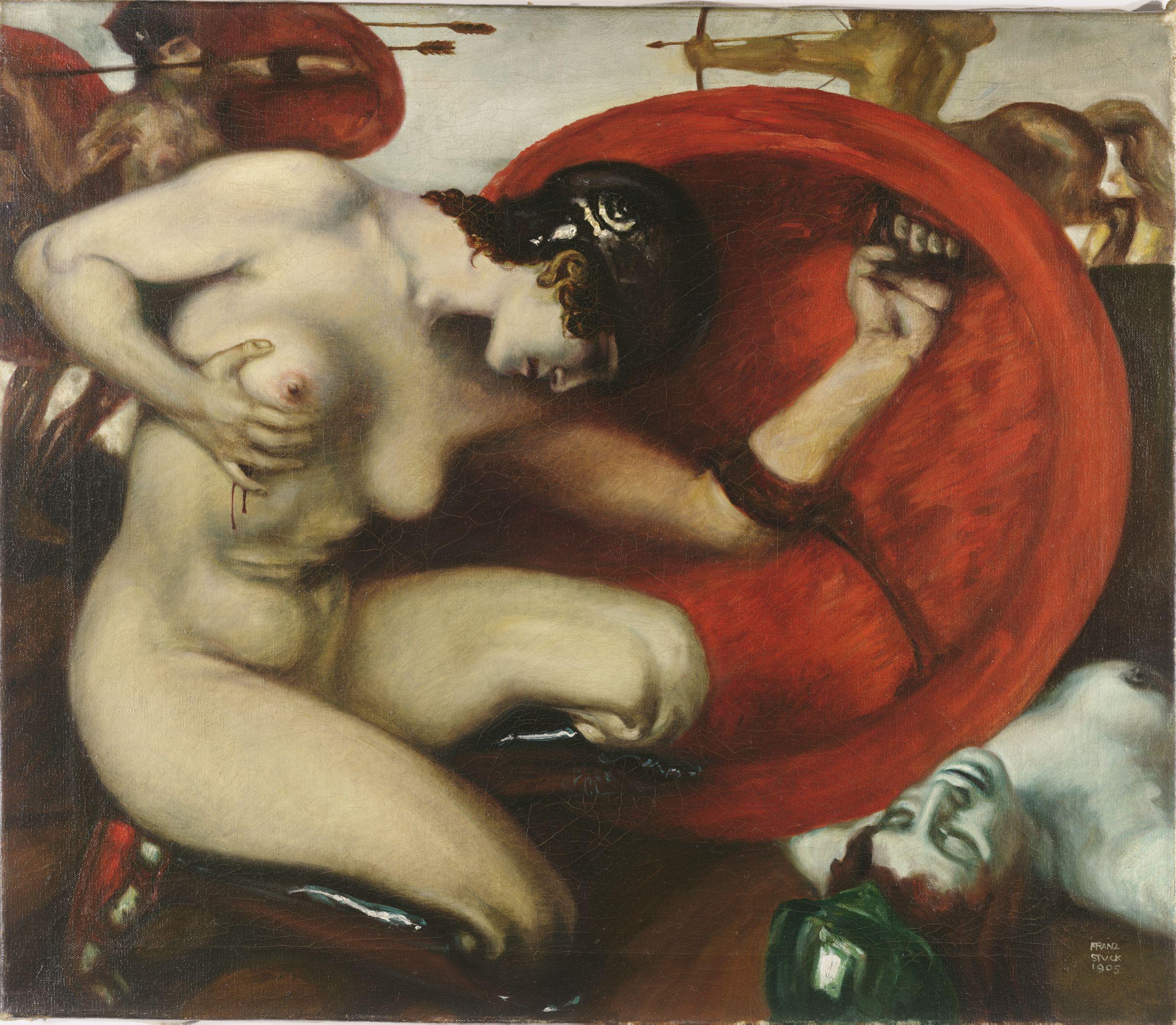 Франц фон Штук / «Раненная амазонка» / 1903