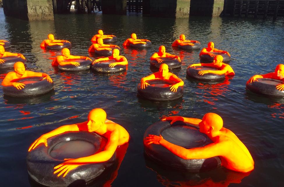 A+J Art+Design / «Safety Orange Swimmers» / 2016