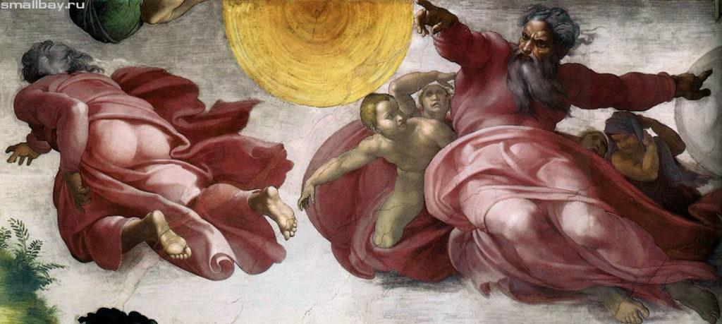 Микеланджело Буонарроти / «Сотворения мира. Отделение света от тьмы» / 1508-1512
