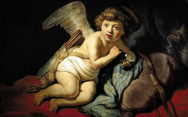 Рембрандт / «Амур Пускающий Мыльные Пузыри» / 1634