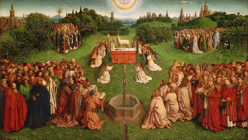 братья ван Эйк / «Поклонение Агнцу» (Гентский алтарь), 2-я пол. XV века