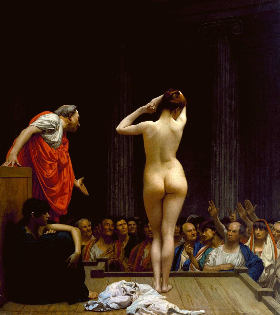 Жан-Леон Жером / «Римский рынок рабов» / 1884