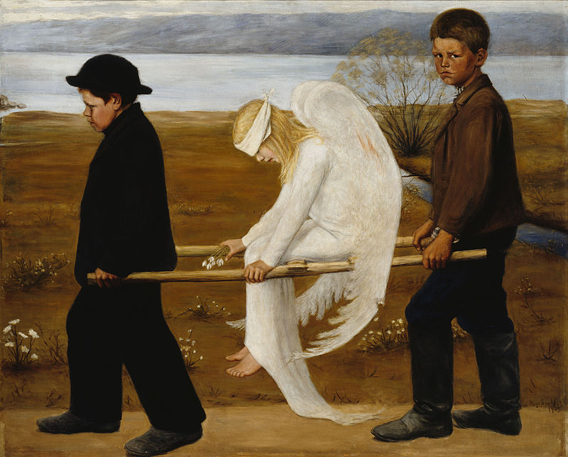 Хуго Симберг / «Раненый ангел» / 1903