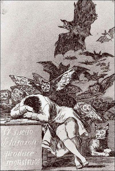 Франсиско Гойя / «Сон разума рождает чудовищ» / 1797