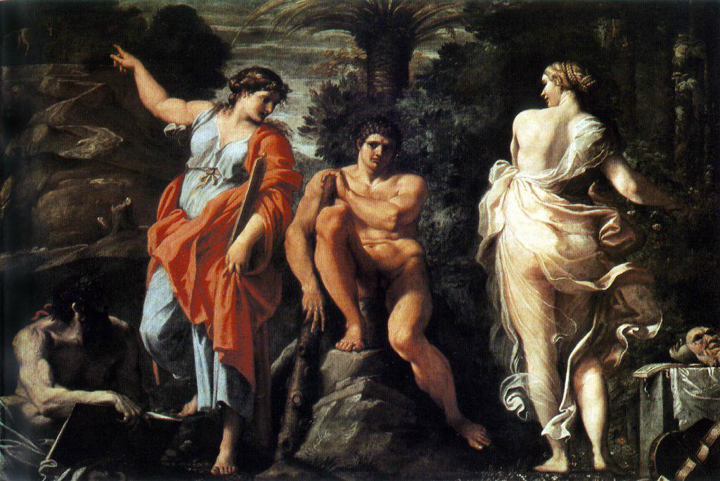 Аннибале Карраччи / «Геркулес на распутье» / 1596