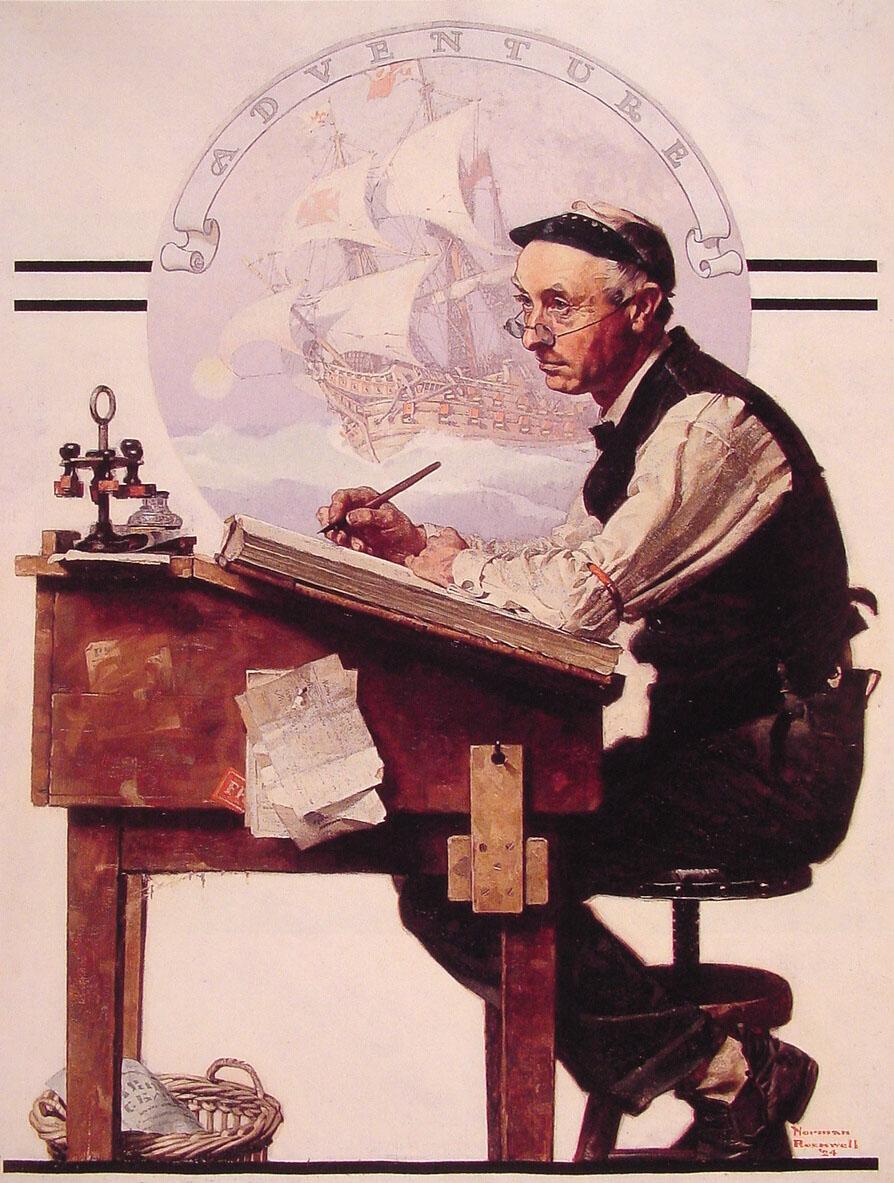 Норман Роквелл / «Мечтающий бухгалтер» / 1924
