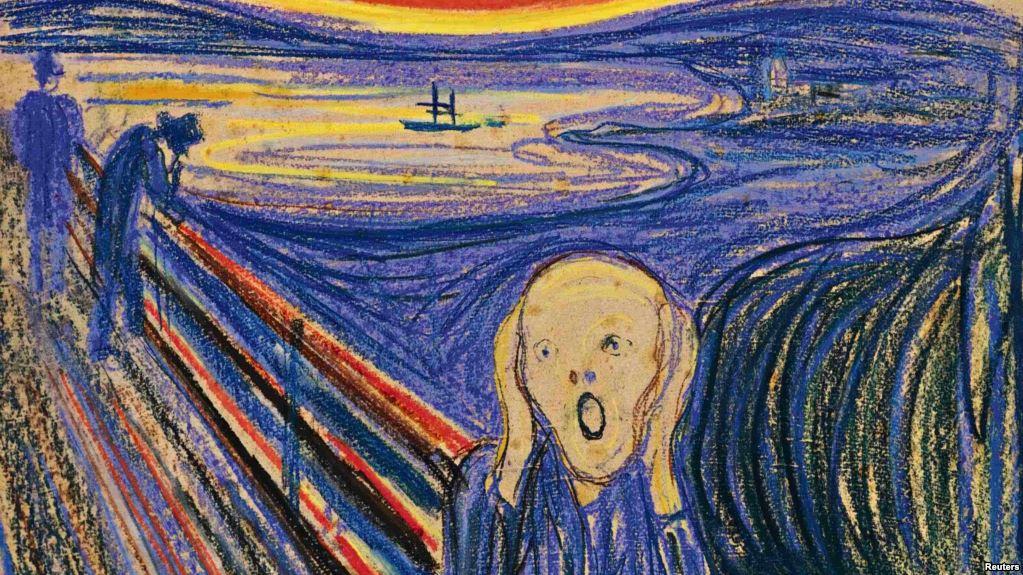 Эдвард Мунк / «Крик» / ХХ век / Одна из четырёх версий - продана за 119,9 млн.$