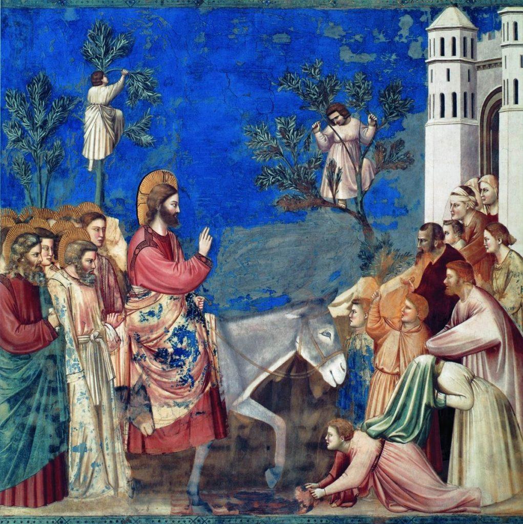 Джотто ди Бондоне / «Вход Господень в Иерусалим» / 1302-05