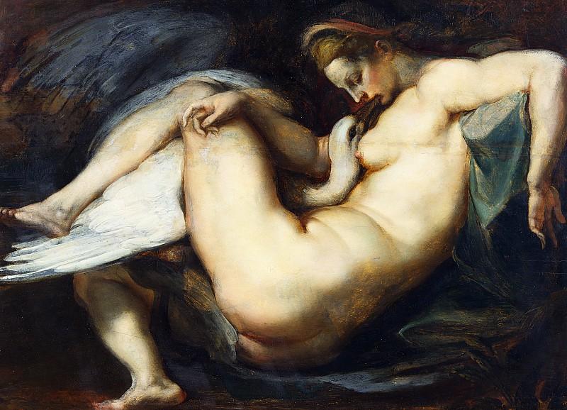 Питер Пауль Рубенс / «Леда и лебедь», копия утраченной картины Микеланджело / 1598-00