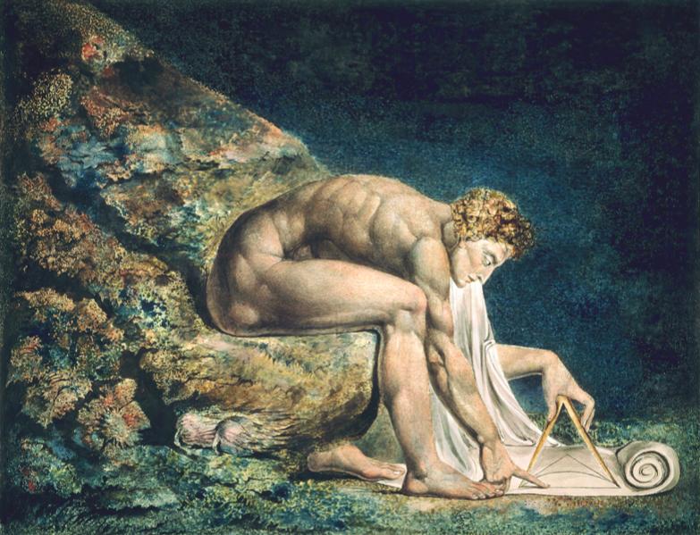 Уильям Блейк / «Исаак Ньютон» / 1795