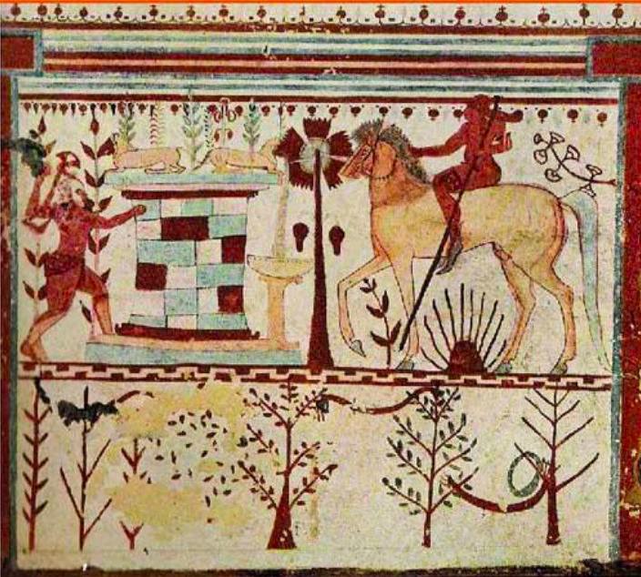 Unknown / «Ахилл в засаде у фонтана», сцена из гробницы Быков. Тарквиния / 540-30 до н.э.