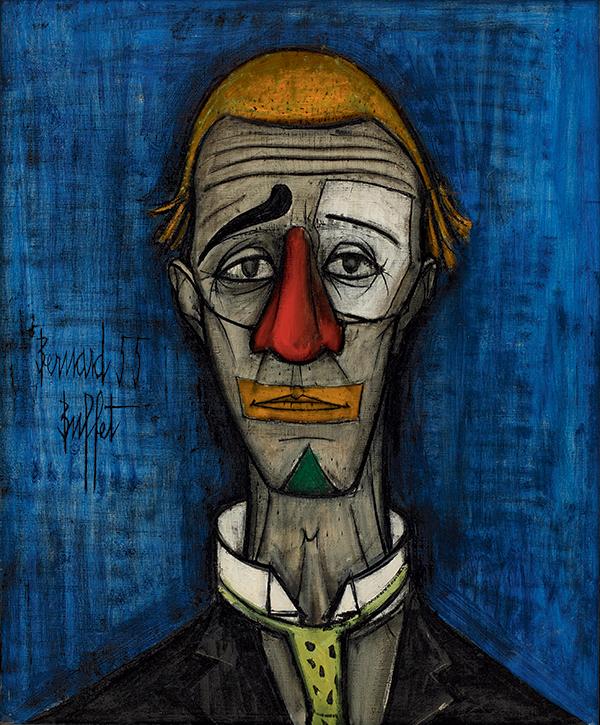 Бернар Бюффе / «Голова клоуна» / 1955