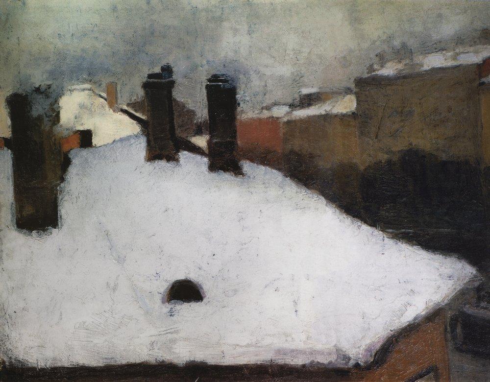 Игорь Грабарь / «Крыши под снегом» / 1889