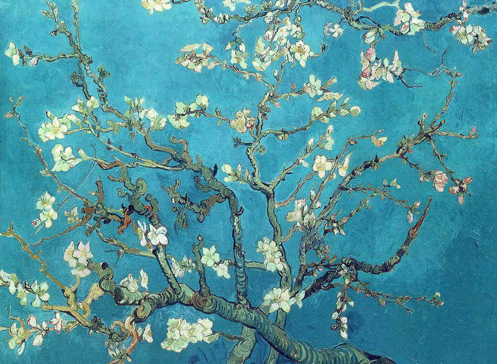 Винсент Ван Гог / «Цветущие ветки миндаля» / 1890