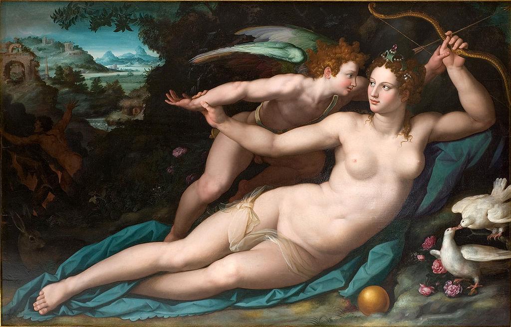 художник Алессандро АЛЛОРИ (1535-1607) / «Венера и Купидон»